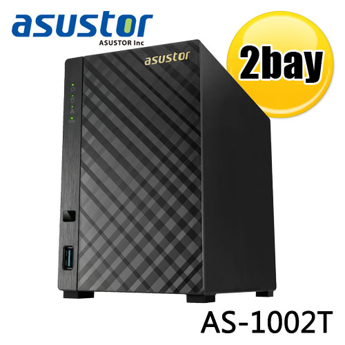ASUSTOR 華芸 AS-1002T 2Bay 網路儲存伺服器