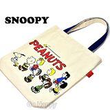 日本進口Snoopy【大家來運動】肩背帆布包