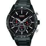 WIRED 東京潮流三眼計時腕錶-黑/46mm VD53-KE30SD(AY8005X1)