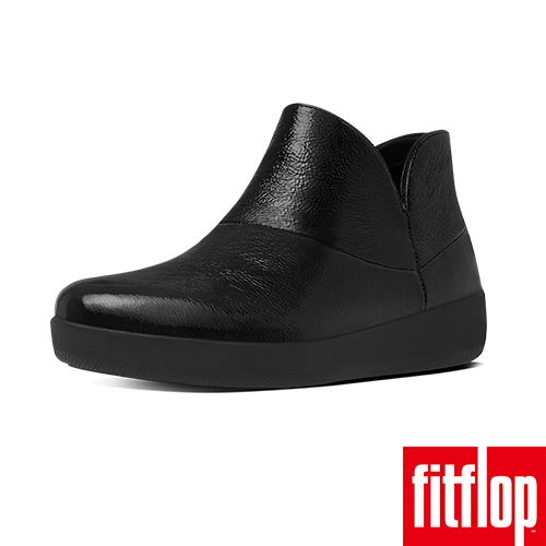 FitFlop™-(女款)SUPERMOD™ LEATHER ANKLE BOOTS-黑