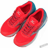mizuno 女 WAVE RIDER 19 (W) WIDE 慢跑鞋 紅 -J1GD160608