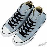 converse 男/女 Chuck Taylor All Star 低筒帆布鞋 經典款 街頭時尚休閒鞋 藍 -147915C