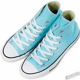 converse 女 Chuck Taylor All Star 基本款高筒 帆布鞋 藍 -148699C