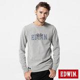 EDWIN 機車引擎LOGO長袖T恤-男-灰色