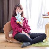【AS】仿麂皮日式圓型和室椅-淺咖啡色
