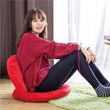 【AS】仿麂皮日式圓型和室椅-暗紅色