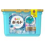 (任選)【日本寶僑P&G】洗衣凝膠球(水藍色-白葉花香)盒裝(352g/18顆)