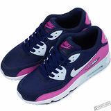 NIKE 女 AIR MAX 90 MESH GS 復古鞋 藍/紅 -833340402