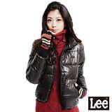 Lee 日落聚會 前拉鍊縮口鋪棉外套-女款(黑)