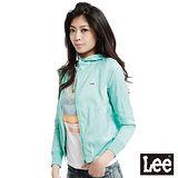 Lee 日落聚會 前拉鍊連帽防風薄外套-女款(珊瑚綠)