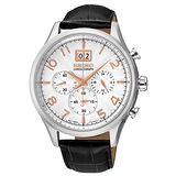 SEIKO 精工 CS 大日期視窗皮帶計時腕錶/42mm/7T04-0AE0W