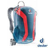 【德國 Deuter】Speed Lite 15L 輕量級透氣健行登山背包(反光標緻/人體工學肩帶).攻頂包.自行車背包.水袋背包 33111 深藍/紅