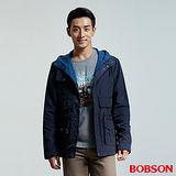 BOBSON 男款刷毛連帽外套(36036-53)