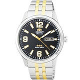 ORIENT 東方 大數字錶盤日期顯示機械腕錶-黑/43mm/FEM7P007B