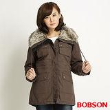 BOBSON 女款毛領軍裝外套(34106-82)