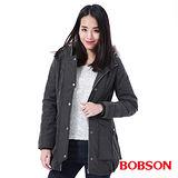 BOBSON 女款軍風鋪棉長版外套 (35105-83)