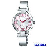 CASIO卡西歐 簡約色彩石英不鏽鋼女錶(LTP-E403D-4A)