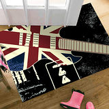 范登伯格-搖滾吉他酷黑地毯-60x100cm