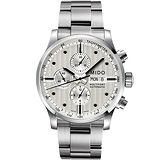 MIDO Multifort Chrono Valijoux計時碼錶-白/44mm M0056141103100