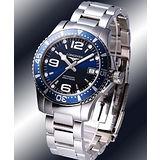 LONGINES 深海征服者300米機械潛水錶-藍/39mm L36414966