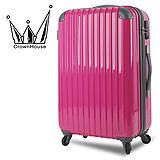 【Crownhouse】繽紛STYLE~輕量PC鏡面加大行李箱28吋(甜心桃)