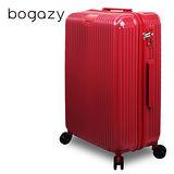 【Bogazy】城市行者 20吋電子抗刮PC旅行箱(紅色)
