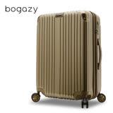 【Bogazy】祕密花園 28吋PC可加大鏡面行李箱(閃耀金)
