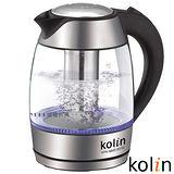 福利品-歌林Kolin-1.8L泡茶玻璃快煮壺-KPK-MNR1831G