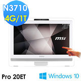msi微星 Pro 20ET 4BW-052TW 20吋 N3710 WIN10 觸控液晶電腦