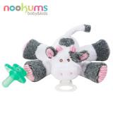 美國 nookums 寶寶可愛造型安撫奶嘴/玩偶-乳牛寶寶