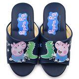 童鞋城堡-粉紅豬小妹 佩佩豬 中大童 室內拖鞋PG0062-藍