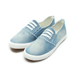 (女) DOOK 刷破牛仔布休閒鞋 淺藍 鞋全家福
