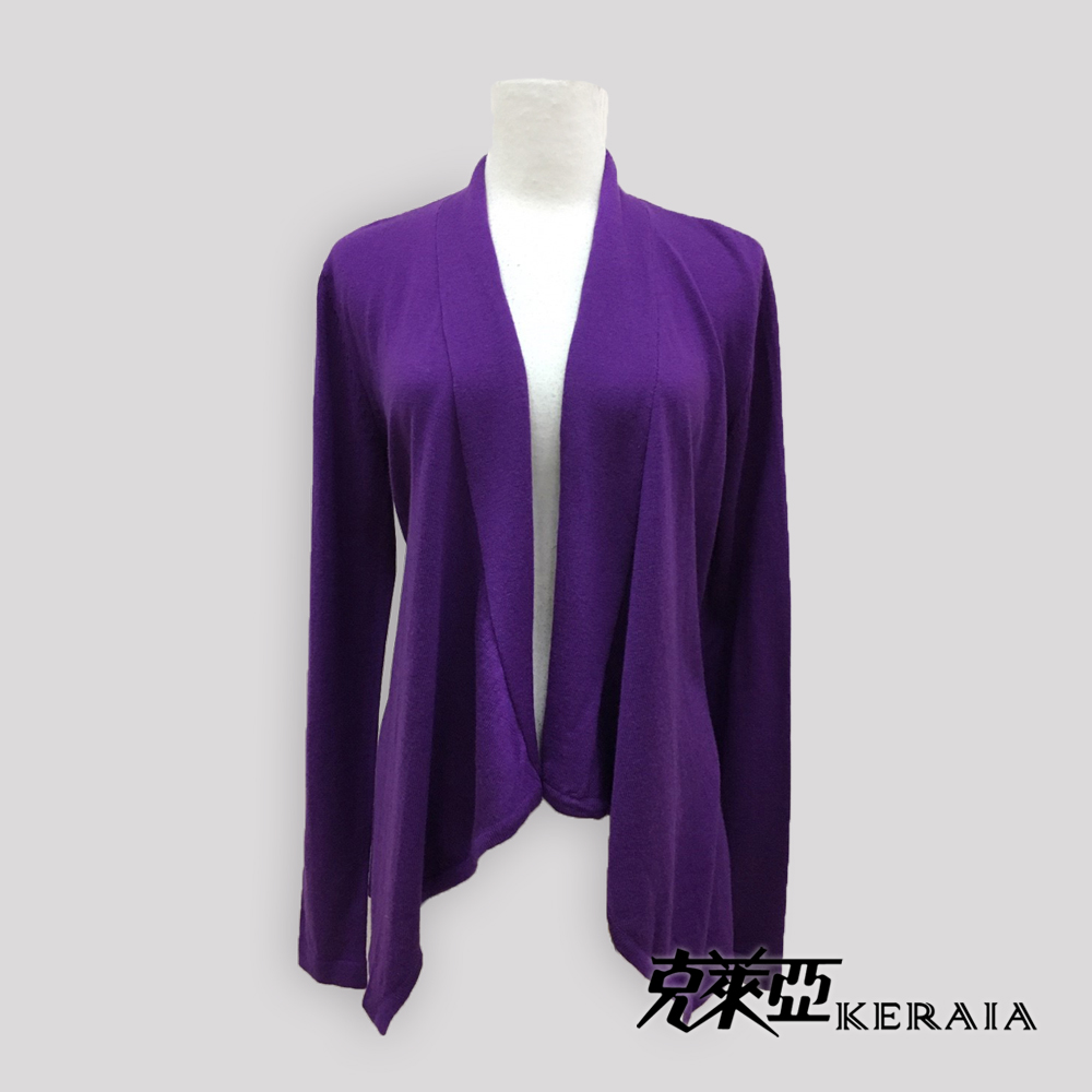 【克萊亞KERAIA】羊毛長版罩衫外套
