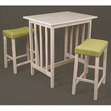 北歐風情白橡休閒一桌二椅/吧檯桌椅/吧台桌椅組/高腳桌/高腳椅/餐桌