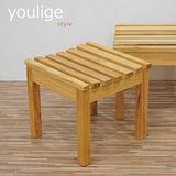 優力格 日式烏心石全實木椅凳/休閒椅/矮凳