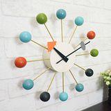 【優力格家具】經典彩球鐘 Ball Clock 掛鐘 外銷德國 loft風 【機芯一年保固】