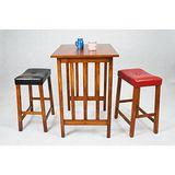 北歐風情胡桃休閒一桌二椅/吧檯桌椅/吧台桌椅組/高腳桌/高腳椅/餐桌