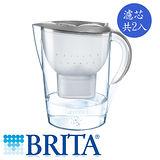 德國 BRITA 馬利拉濾水壺3.5L-星燦銀+濾芯2入
