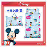 【17mall】Disney迪士尼米奇小屋二用幼教兒童睡袋-粉藍