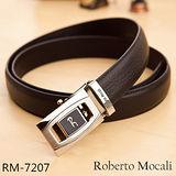 【Roberto Mocali】頂級牛皮海獅紋自動皮帶(RM-7207)