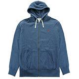 Ralph Lauren 小馬內刷毛棉質連帽外套(墨藍/XL號)
