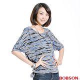 BOBSON 女款寬版燒花布上衣(33088-87)