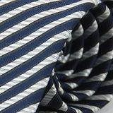 【雅派Alpaca】深藍白斜紋領帶