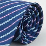 【雅派Alpaca】深藍底紫藍斜紋領帶
