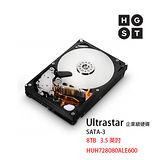 HGST Ultrastar 7K6000 8TB/3.5 英吋/SATA 企業級氦氣硬碟 (HUH728080ALE600)