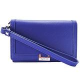 agnes b.H鐵牌手掛式輕便短夾(紫)