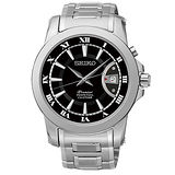 SEIKO 精工 PREMIER新古典主義流行腕錶/黑+白-41mm/ 6A32-00X0D