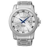SEIKO 精工 PREMIER新古典主義流行腕錶/銀灰+白-41mm-6A32-00X0S
