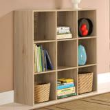 【Yomei】DIY菲爾九格櫃/展示櫃/書櫃/收納櫃/隔間櫃(淺橡色/深橡色)