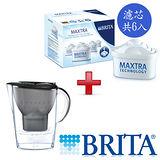 德國 BRITA 馬利拉濾水壺3.5L-星燦黑+濾芯6入